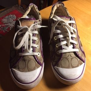Coach athletic shoes size 10B